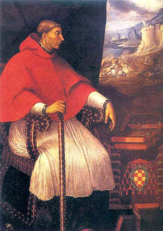 Retrato del Cardenal Cisneros, quien ordenó en 1517 que los obispos americanos cumplieran la función de inquisidores. (Wikimedia Commons)