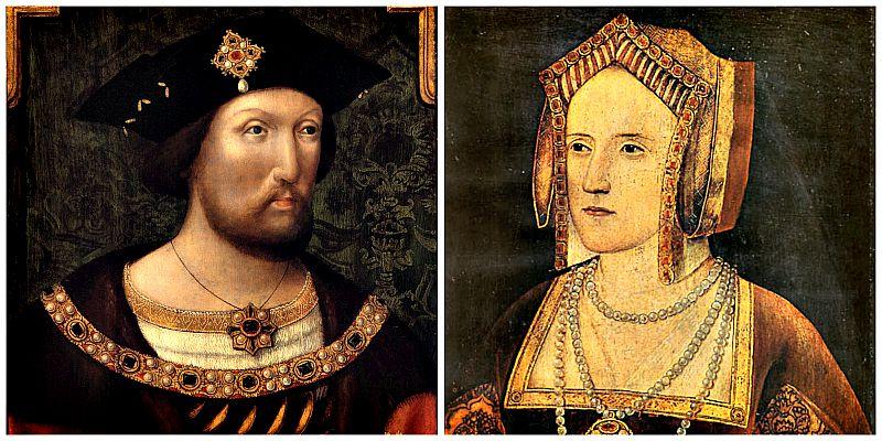 María fue la única hija de Enrique VIII (izquierda) y Catalina de Aragón (derecha), quien era hija a su vez de los Reyes Católicos.