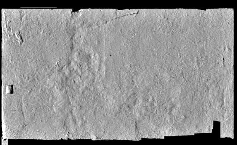 El análisis de imágenes digitalizadas, como la que aquí se muestra, permitió a Nicholas Reeves ver detalles con los que ha desarrollado su teoría acerca de la tumba de Nefertiti. (Fotografía: El Mundo)