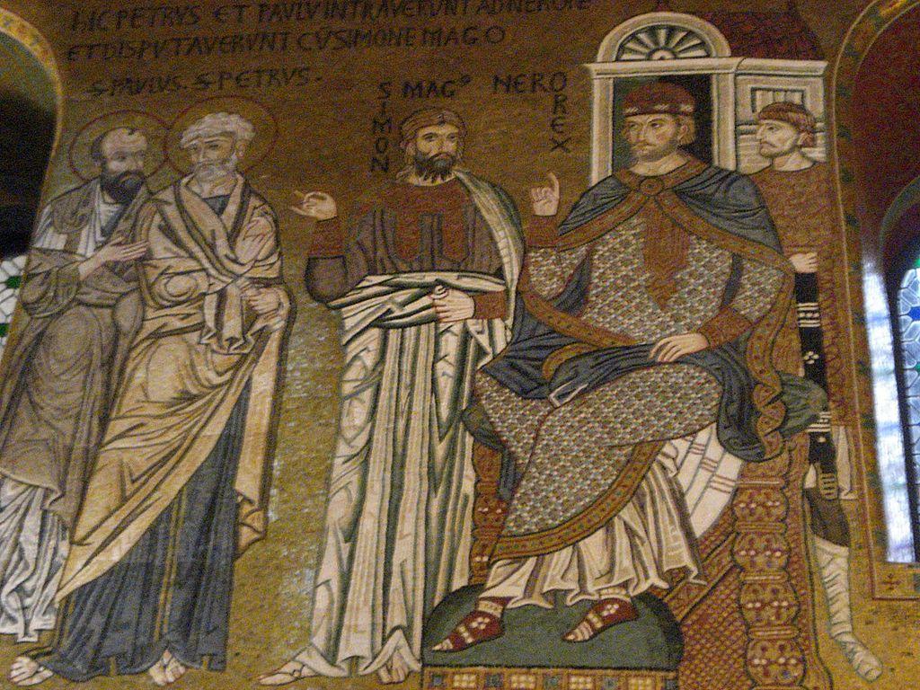 Pedro, Pablo, Simón el Mago y Nerón