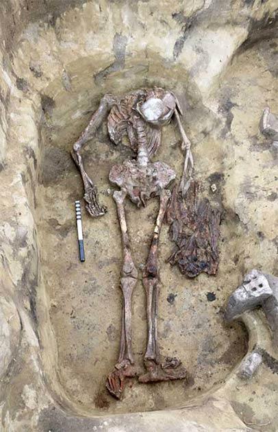 Se encontraron 30 - 40 picos y cabezas de aves en otro entierro único de Odinov. (Instituto de Arqueología y Etnografía de Novosibirsk / The Siberian Times)