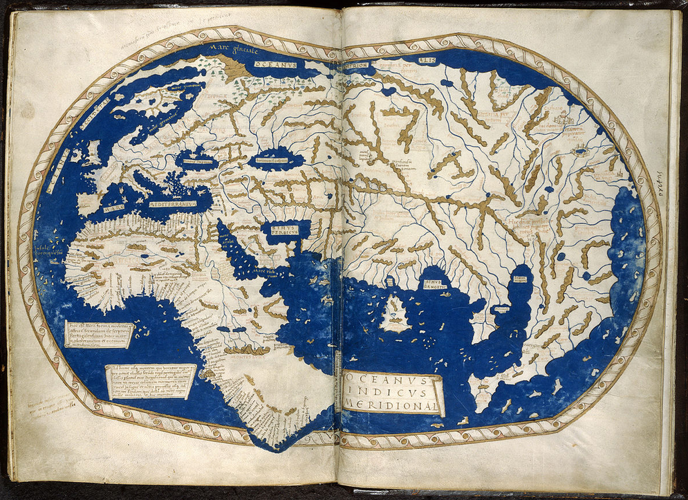 Mapa anterior de Martellus producido en 1489 (Wikimedia Commons)