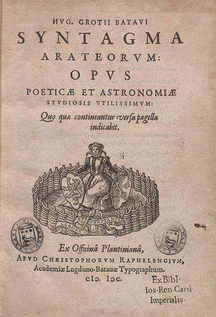 Una copia en latín de la obra principal del antiguo poeta griego Aratus: Phaenomena. (Biblioteca Europea di Informazione e Cultura / Dominio público)