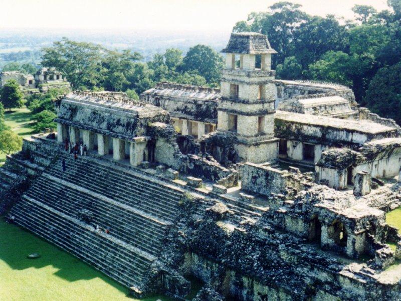 El antiguo Palacio de Palenque. Wikimedia Commons