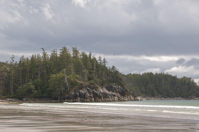 Playa de la Isla Calvert, Costa de la Columbia Británica, Canadá (Wikimedia Commons)
