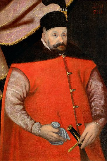 """Retrato de Istvan Bathory, Príncipe de Transilvania y Rey de Polonia entre los años 1575 y 1686, tío carnal de la """"Condesa Sangrienta"""". (Wikipedia)"""