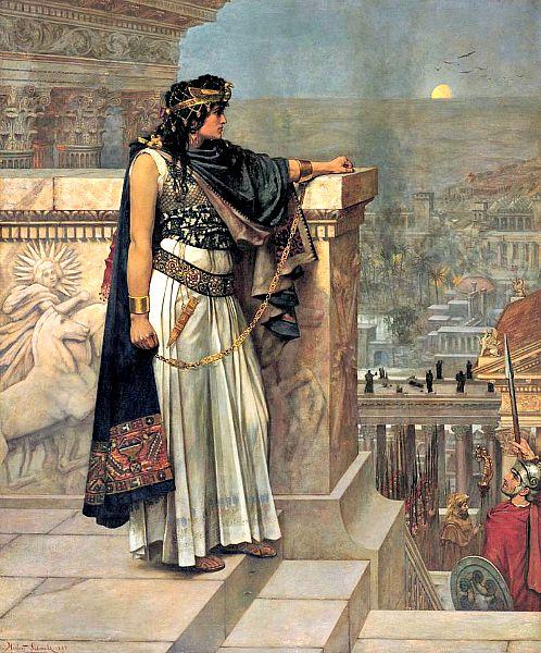 La última mirada a Palmira de la reina Zenobia, cuadro de Herbert Schmalz (Wikimedia Commons)