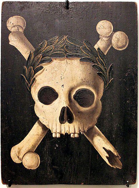 Cartel utilizado durante las epidemias de peste en el que aparece la muerte triunfante. Estos carteles se colocaban por fuera de las casas en las que había enfermos de peste. (Wikimedia Commons)