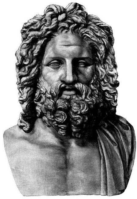 Ilustración del busto de Zeus de Otricoli, Italia. (Wikimedia Commons)