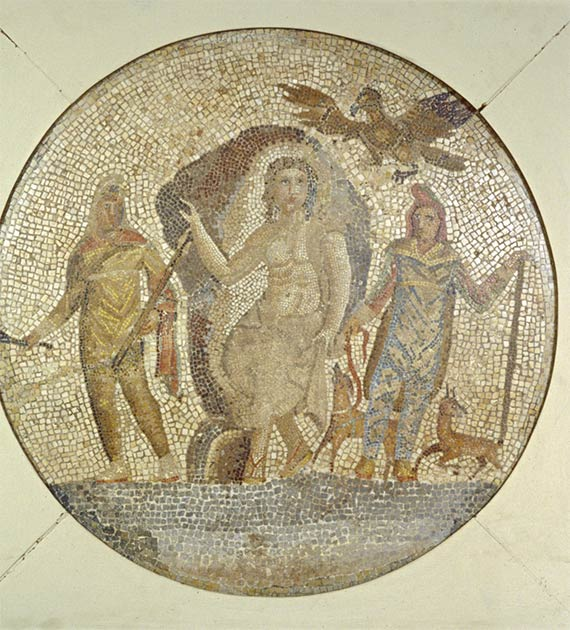 Fragmento de un mosaico con Mitra. (Museo de Arte Walters)