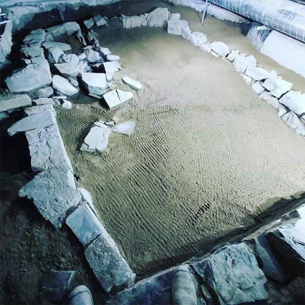 La estructura Hiberno-Norse debajo del nuevo supermercado Lidl en el centro de Dublín, Irlanda, diseñada por Irish Archaeological Consultancy Ltd (Andrew Finney)