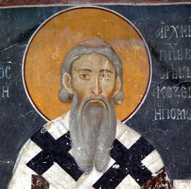 San Sava, la deidad pastor lobo eslava, representada en la tradición serbia. (Dominio público)