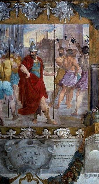 El orgullo del rey Rómulo. (Dominio público)