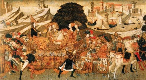 La Llegada de la Reina de Saba por Apollonio di Giovanni (Wikimedia Commons)