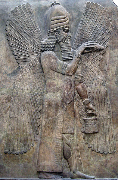 Relieve de Marduk, perteneciente al legado mesopotámico del Museo del Louvre. Public Domain