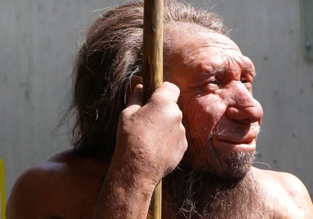 Modelo de cera de un Neanderthal. Foto: Erich Ferdinand/Flickr