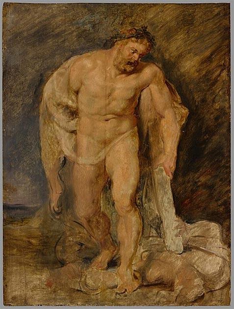 """""""Hércules como vencedor sobre la discordia"""" (1610) de Peter Paul Rubens. (Dominio público) Los cínicos adoptaron la figura de Heracles como su símbolo y héroe patrón."""