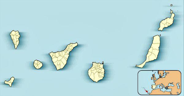 Mapa mostrando la situación geográfica del archipiélago de las Islas Canarias (Wikimedia Commons)