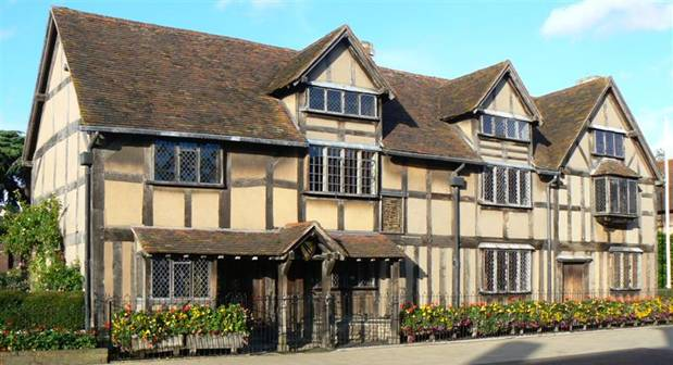 La casa de John Shakespeare en Stratford-upon-Avon, en la que se cree que nació William Shakespeare. (CC BY 2.0)