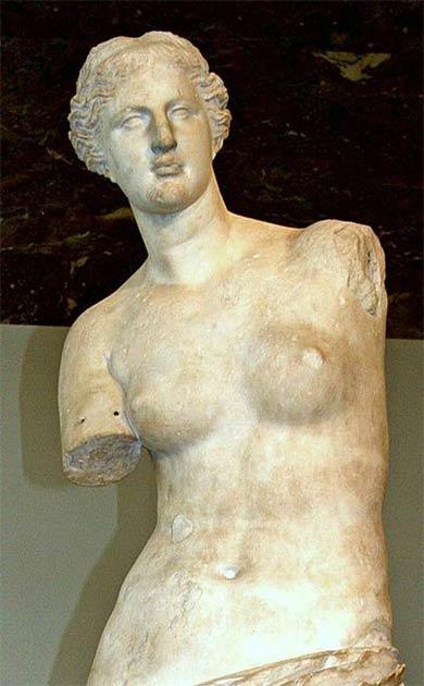 Venus di Milo o Afrodita de Milos (la diosa griega del amor) es una de las esculturas griegas más famosas (CC BY 2.0)