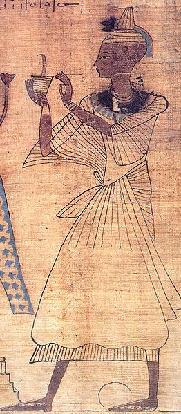 Rituales-Egipcios-Fundación-Sacerdote del Antiguo Egipto quemando incienso