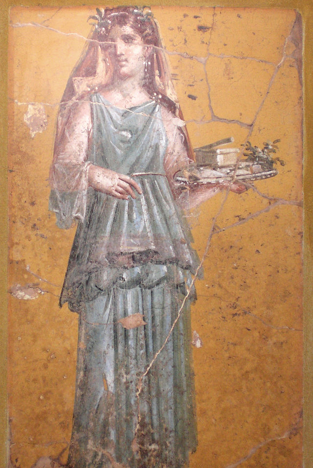 En la antigua Roma, la piel pálida estaba considerada como la más hermosa. Fresco procedente de Villa San Marco, Stabiae (Wikimedia Commons)