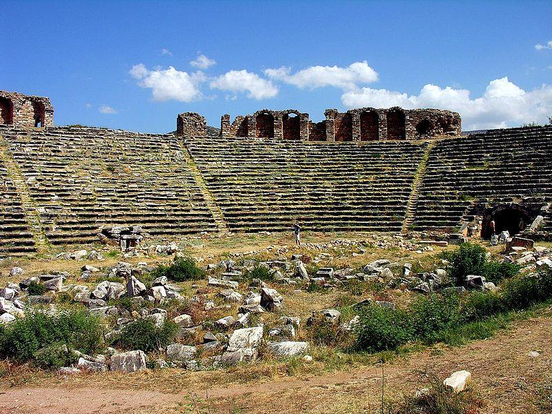 El antiguo estadio romano de Afrodisias, Turquía. (Fotografía de Dennis Jarvis/Wikimedia Commons)
