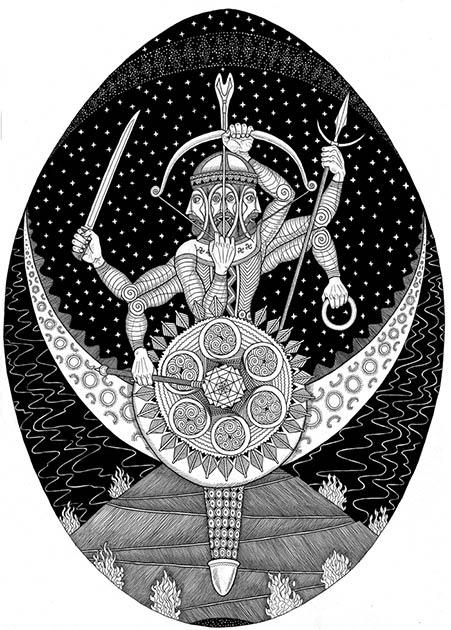 El dios del sol Dabog: el dios herrero eslavo y señor de los cielos. Dabog era el hijo de Svarog. (Mhapon / CC BY-SA 4.0)