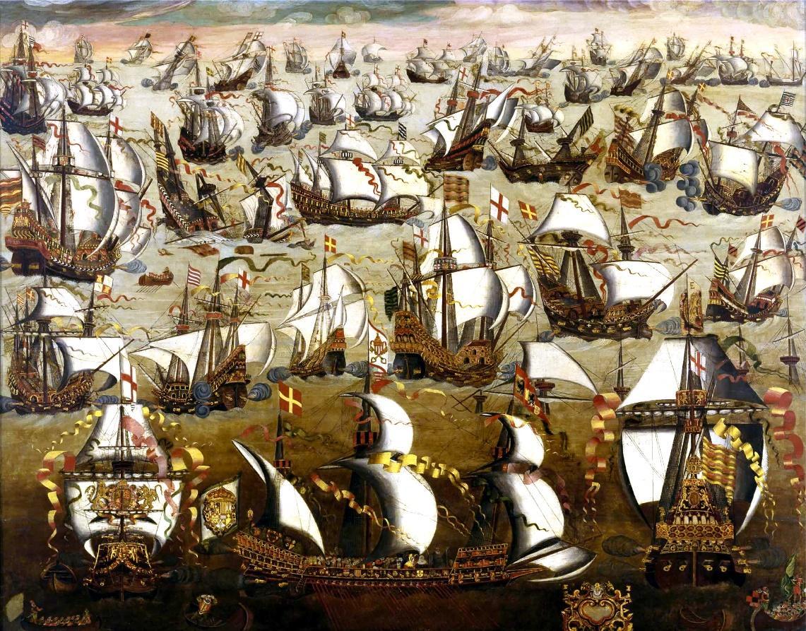 El rey Felipe armó una importante flota, que vino a ser conocida como la Armada Invencible (Wikimedia Commons)