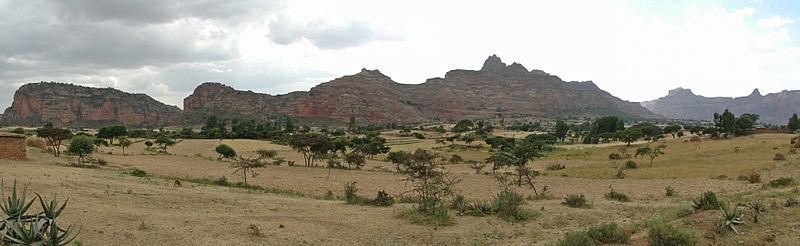 Paisaje del Macizo de Geralta, en la región de Tigray, Etiopía (Wikimedia Commons)