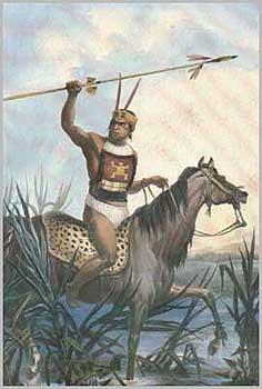 Guerrero Charrúa, pintura de Jean-Baptiste Debret (Wikimedia Commons)