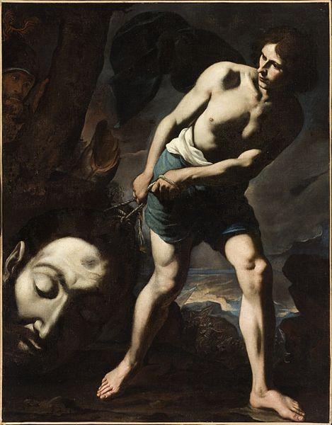 David con la cabeza de Goliath, Andrea Vaccaro (1635) (Wikimedia Commons)