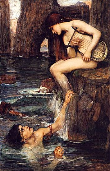 """Sirena"" de John William Waterhouse, 1900. (Wikimedia Commons)"