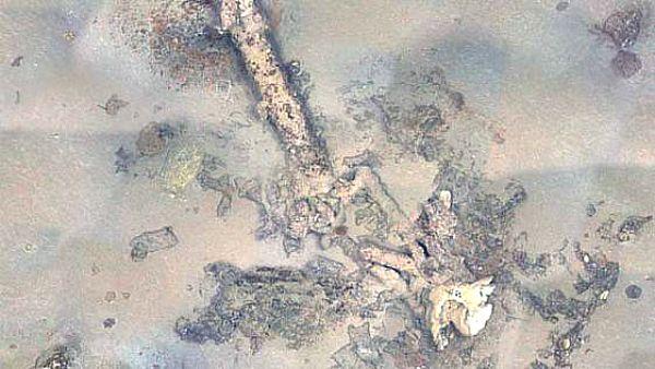 """Imagen submarina de los restos hundidos de """"La Mercedes"""". Fotografía: """"Heraldo"""""""