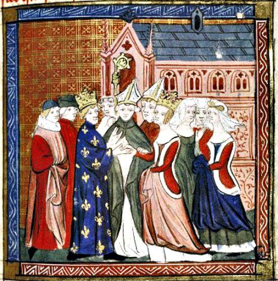 Boda de Leonor de Aquitania y Luis VII de Francia. (Wikimedia Commons)