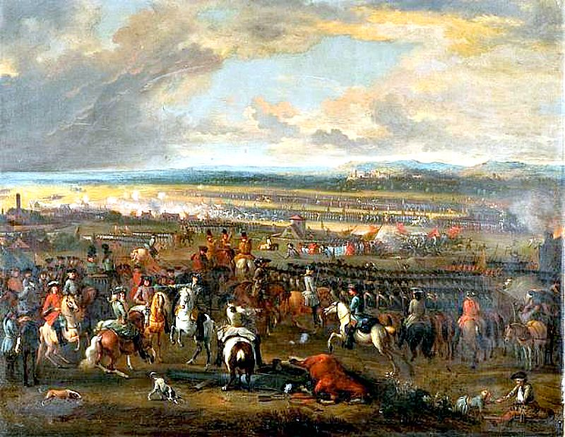 La batalla de Chiari, que tuvo lugar el 1 de septiembre de 1701, fue una de las primeras batallas de la Guerra de Sucesión. Obra de Jan van Huchtenburg. (Wikimedia Commons)
