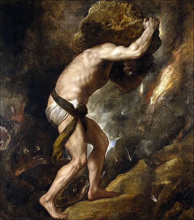 Los pecados de Sísifo le condujeron a su definitiva y desquiciante condenación eterna. Public Domain