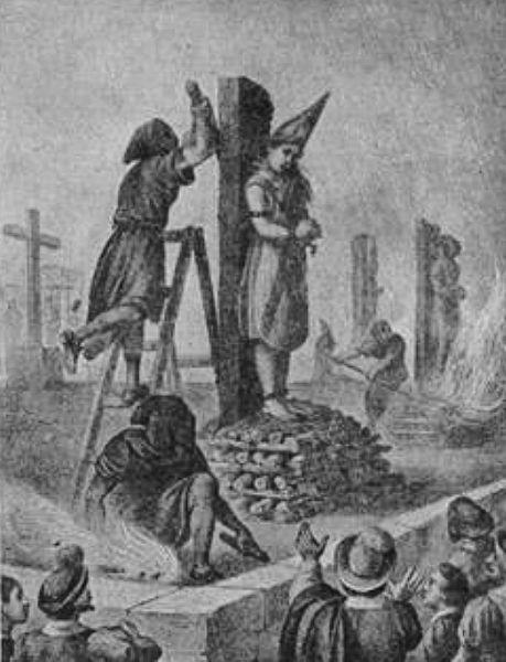 Ejecución de Mariana de Carvajal (judía conversa), ciudad de México, 1601. (Wikimedia Commons)