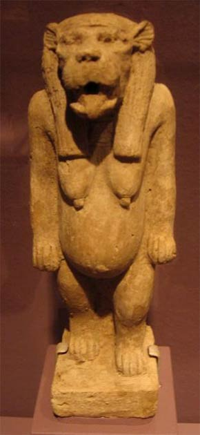La diosa hipopótamo Tawaret. ¿Era la diosa misteriosa venerada por Sobekneferu? Crédito: Acuerdo Wiki Commons, 2020.