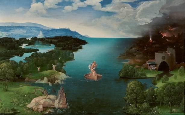 """La pintura del siglo XVI """"Cruzando el río Estigia"""" por Joachim Patinir (Wikimedia Commons)"""