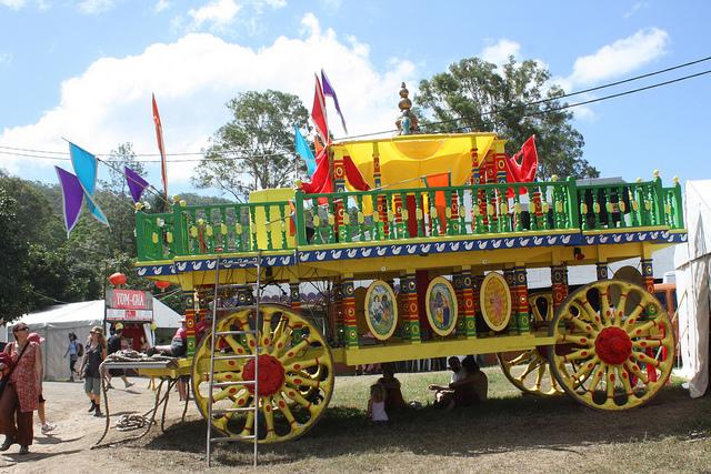 Carro para el festival tradicional hindú Ratha Yatra que aún se celebra en la actualidad. Jan Smith/Flickr