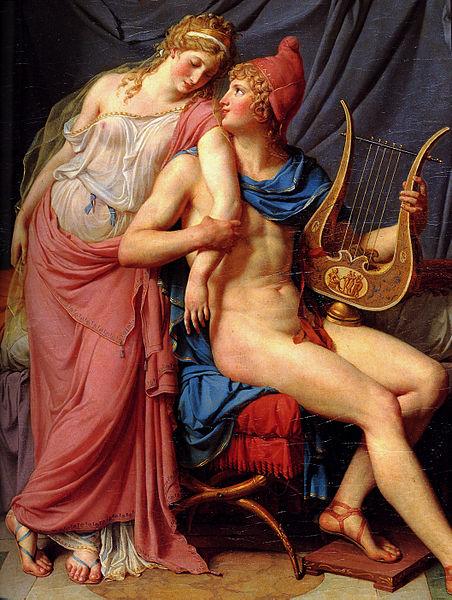 El Amor de Helena y Paris, Jacques-Louis David (1788) (Wikimedia Commons)