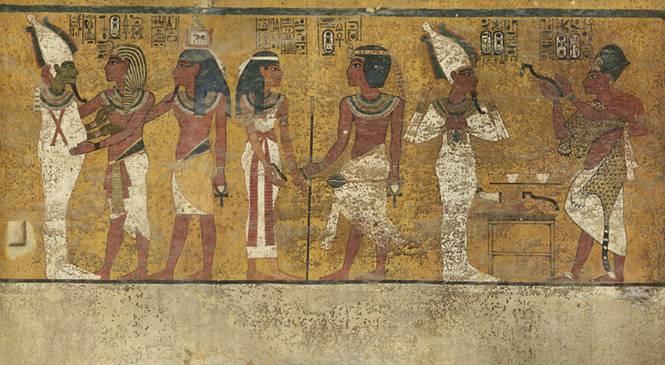 Imagen de la cámara funeraria del faraón Tutankamón registrada por el escáner de Factum Arte (Factum-arte.org scan)