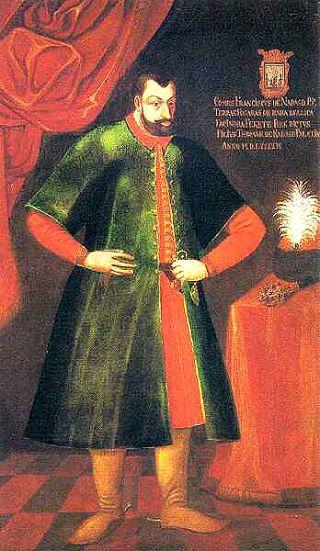 Retrato del Conde Ferenc Nadasdy, esposo de la Condesa Báthory (Wikipedia)