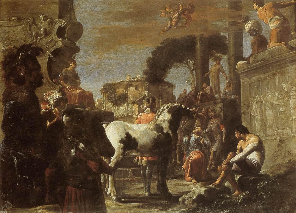 Caída de Simon Magus por Leonaert Bramer. (Wikimedia Commons)