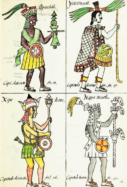 Dioses aztecas en el códice florentino. (Gary Francisco Keller / CC BY 3.0)