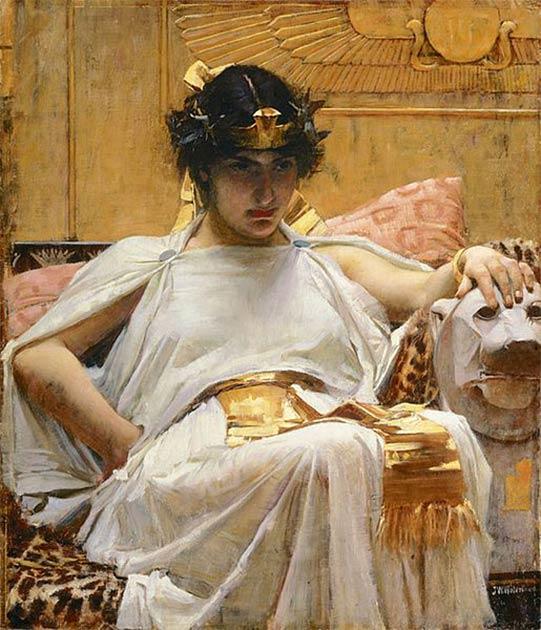 'Cleopatra' (1888) de John William Waterhouse. (Dominio público) Cleopatra es una de las reinas más famosas de la historia.