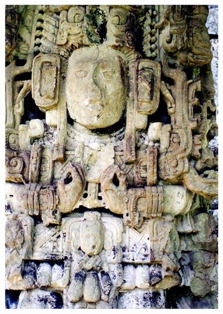 Representación de tallas de pared en el templo de Rosalila. (Maurizio Costanzo / CC BY-SA 2.0)