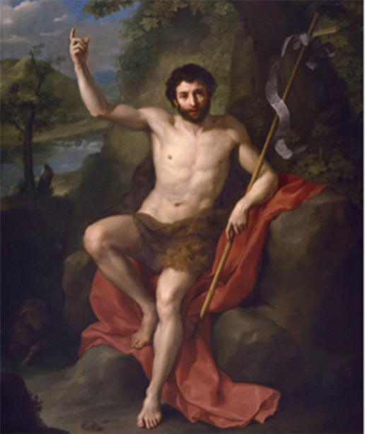 Juan el Bautista predicando en el desierto del desierto. (Anton Raphael Mengs (1760) / Dominio público)
