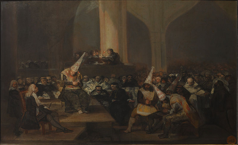 Escena de Inquisición, Francisco de Goya (1808/1812) (Wikimedia Commons)
